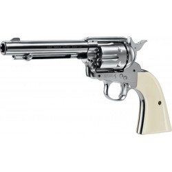 Revolver Colt Peacemarker Nickel White